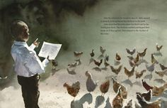 """Preaching to the Chickens: The Story of Young John Lewis"" is an illustrated children's book written by Jabari Asim and illustrated by E. B. Lewis. (Courtesy Penguin Random House)"