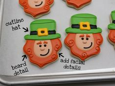 LEPRECHAUN COOKIESStep By Step... If you have the time and AMBITION!