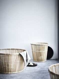 Craftwork for the Masses: Inegerd Råman's New Collection for Ikea - Remodelista Bamboo Basket, Wicker Baskets, Interior Design Inspiration, Home Decor Inspiration, Ikea Design, Turbulence Deco, Bed Linen Design, Home Upgrades, Home And Deco