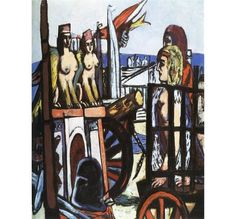 Max Beckmann | Transporting the Sphinxes (1945) | Artsy