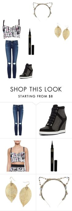 """with austin mahone"" by queentiamarie ❤ liked on Polyvore featuring AG Adriano Goldschmied, Jimmy Choo, Milly, Napoleon Perdis and Eugenia Kim"