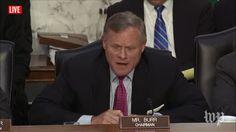 Richard Burr | Live: Former FBI Director James Comey Testifies Before Congress (2017 broadcast) via Washington Post (YouTube channel)