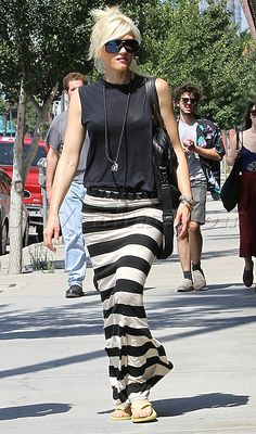 Now this is why Gwen Stefani is my fashion icon. I don't like her sandals though. I will swap it out with black Docs.