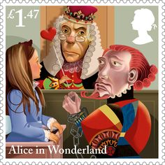 Alice in Wonderland £1.47 Stamp (2015) Alice's Evidence | Royal Mail honours Alice in Wonderland with special stamps.