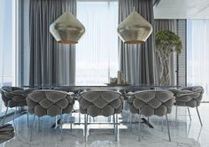 The Best Dining Room Upgrades with References Upwards Masculine .- Die Besten Esszimmer-Upgrades mit Hinweisen aufwärts maskuline Schönheit The best masculine gray palette dining room upgrades with a touch of masculine beauty room - Comfy Sofa, Comfortable Sofa, Masculine Apartment, Home Design, Interior Design, Design Interiors, Decoration Inspiration, Style Inspiration, Best Dining