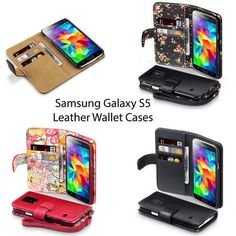 New Leather Wallet Case Cover for Samsung Galaxy S5   Free Delivery