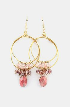 Celeste Chandelier Earrings in Blush