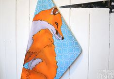 Fox Illustration Tea Towel by ceridwenDESIGN on Etsy