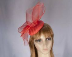 Red ladies fashion fascinator hat Melbourne Cup Derby races buy online in NZ