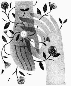 Julianna Brion illustration | conceptual illustration | black and white illustrations