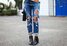 Ripped Boyfriend Jeans (A Major Essential)