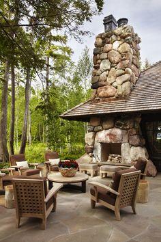 Brookside Retreat Patio Design by #TomStringerDesignPartners #TSDP