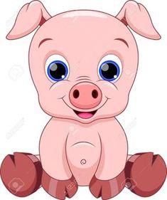 Cute Baby Pig Cartoon Royalty Free Cliparts, Vectors, And Stock Illustration. Pic Baby Pig Cartoon Royalty Free Cliparts, Vectors, And Stock Illustration. Cute Cartoon Animals, Cartoon Pics, Cartoon Drawings, Animal Drawings, Baby Animals, Cute Animals, Cartoon Art, Cute Baby Pigs, Cute Babies