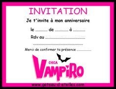 Invitations à imprimer Chica Vampiro
