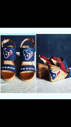 Wedges size Ready to ship by JCorreaCreations on Etsy Houston Texans Football, Football Season, Crazy Shoes, Battle, Wedges, Seasons, Ship, Game, Boots
