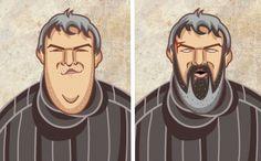 Les personnages de Game of Thrones Avant/Après  : Hodor, toujours aussi Hodor