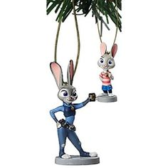 """#Christmas Want to buy Disney Zootopia """"Judy Hopps & Young Bunny"""" 2 pc Ornament Set for Christmas Gifts Idea Shop . All children adore  Christmas Toys as well as before very long; you do have a property packed with these individuals. Between the overeager grandmother and grandfather plus the thrilled mother and fat..."""