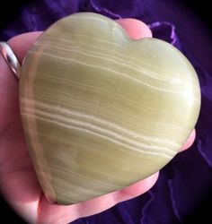 Onyx Heart Large Strength Focus Willpower Release by ZenwithGems