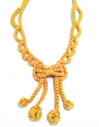 <p> Looking Glass Crocheted Necklace</p>  THE ACTUAL PATTERN! No trying to navigate from other blogs. You're welcome!