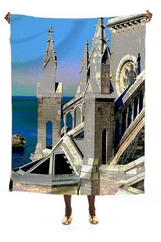 Silk scarf, Church Overlooking the Ocean from Print All Over Me