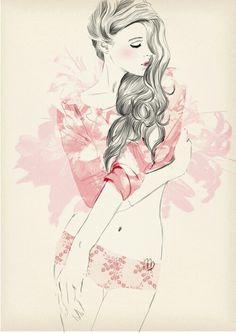 sensual, feminine, innocent