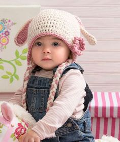 Sweet Bunny Hat Free Crochet Pattern