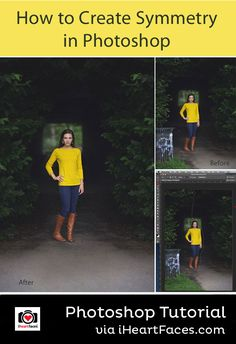 How to Create Symmetry in Photos - Photoshop Tutorial by Melanie Weyer for I Heart Faces Photography Blog