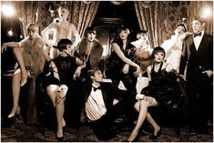 Whether you choose a stylish flapper girl, jazzy Art Deco or gangsters and molls, your guests will know to dress up from the era and expect a roaring good time! Description from theinvitationboutique.co.uk. I searched for this on bing.com/images
