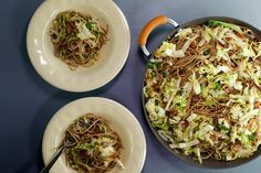 Spaghetti with Bacon and Cabbage.