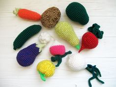 Amigurumi Vegetables : Admire these adorable fruits and vegetables free crochet patterns