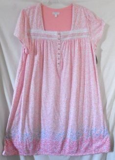 PINK WHITE SECRET TREASURES FLORAL LACE PYJAMAS NIGHTGOWN CAP SLEEVE 4X 26W  -28 68252394e