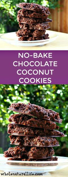 Gluten-free coconut cookies | Paleo coconut cookies | Healthy no-bake cookies | Chocolate coconut cookies - try with Stevia instead of honey to make Candida diet friendlier and only enjoy on special occasions ;-)