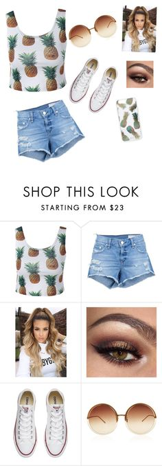 """""""Untitled #18"""" by forestgreengirl ❤ liked on Polyvore featuring rag & bone/JEAN, Converse, Linda Farrow and Sonix"""