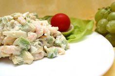 Салат из креветок с яйцом «Нежный»