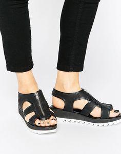 1225ed4e700 Religion Sin Flatform Zip Sandals at asos.com. Womens Boots On SaleCheap ...