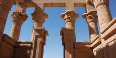 The towering columns of the Temple of Philae