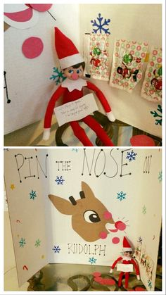 Pin nose on rudolph