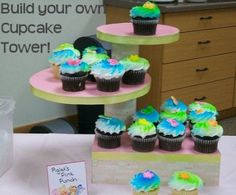 Build your own cupcake tower using stuff around the house, with directions from CrafterBerly on Squidoo.