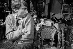 Jean-Loup Sieff, photographer, at café de Flore, Paris, 1959  by Franck Horvat