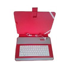 """Funda Universal con Teclado USB para Tablet 10"""" Rosa en  http://www.opirata.com/funda-universal-teclado-para-tablet-rosa-p-27541.html"""