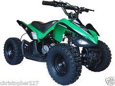 Outdoor Kids Ride On V2 Green Mini Quad ATV Dirt Motor Bike Electric Battery