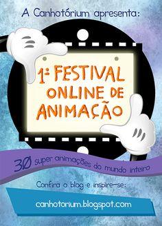 A Canhotórium orgulhosamente apresenta o seu 1º Festival Online de Animação. Selecionamos 30 animações super criativas, produzidas nas mais diferentes técnicas por artistas de vários países do mundo. Confira o nosso blog e inspire-se!  http://canhotorium.blogspot.com.br/