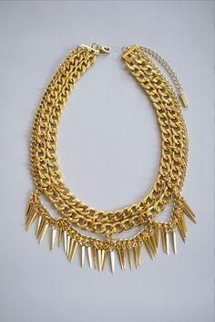 chain fringe collar- Free shipping - Pinterest: Joelle│ɷ Oh Happy Land
