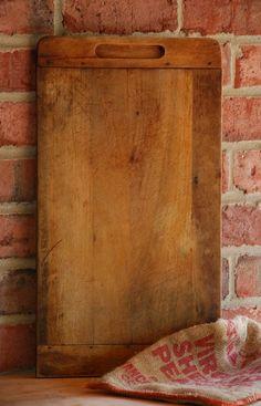 Vintage Dovetail Cutting Board - Antique Farmhouse Bread Board - Primitive Wood Board