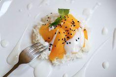 Mango, Kiwi Sticky rice...yum--I'm addicted to this Thai dessert. I ...