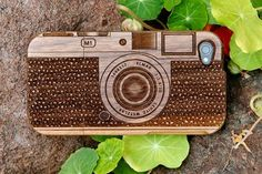 wooden camera iphone case!
