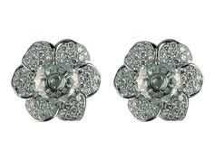 Carrera y Carrera 18kt White Gold Gardenias Collection Earrings