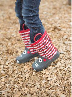 """Kalosze """"Robotic"""" w kolorze czerwono-biało-szarym - Be Only - obuwie dziecięce - Limango"""