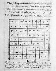 Quadrati magici (planetari)  della Luna,presenti a pagg.  21 del monoscritto 2433 datato giugno-agosto 1339. Magic Squares, Novels, Fiction, Romance Novels