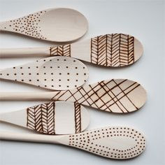 The Perfect Gift: Etched Wooden Spoons. (via Design Mom)